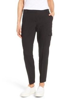 Nordstrom Collection Linen Blend Cargo Trousers