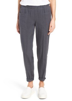 Nordstrom Collection Linen Blend Trousers