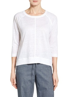 Nordstrom Collection Linen Knit High/Low Top