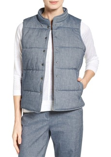 Nordstrom Collection Mélange Cotton Blend Quilted Vest