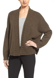 Nordstrom Collection Open Front Shawl Collar Cashmere Cardigan