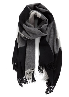 Nordstrom Collection Plaid Cashmere Scarf