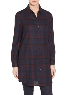 Nordstrom Collection Plaid Wool Flannel Tunic