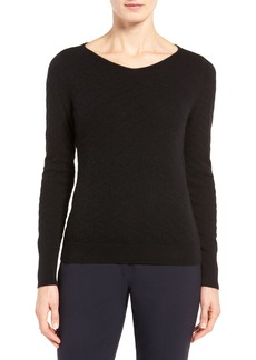 Nordstrom Collection Pointelle Cashmere Sweater