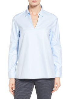 Nordstrom Collection Popover Oxford High/Low Shirt