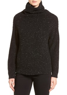 Nordstrom Collection Rib Knit Cashmere Turtleneck