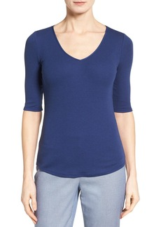 Nordstrom Collection Rib Knit Cotton Blend Top