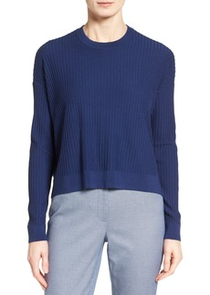 Nordstrom Collection Ribbed Merino Wool High/Low Pullover