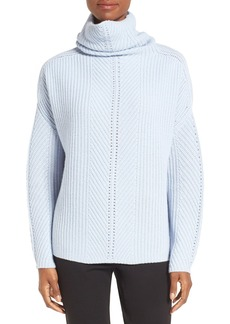 Nordstrom Collection Scrunch Neck Cashmere Pullover