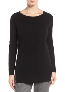 Nordstrom Collection Side Slit Cashmere Sweater