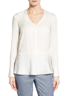 Nordstrom Collection Silk Peplum Blouse