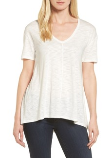 Nordstrom Collection Slub Knit Trapeze Tee