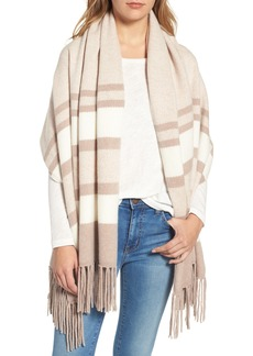 Nordstrom Collection Stripe Cashmere Wrap