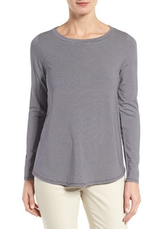 Nordstrom Collection Stripe Jersey A-Line Top
