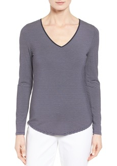 Nordstrom Collection Stripe Stretch Modal Top