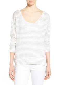 Nordstrom Collection Stripe V-Neck Sweater