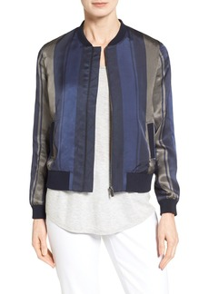 Nordstrom Collection Stripe Woven Bomber Jacket