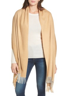 Nordstrom Collection Tricolor Cashmere Wrap