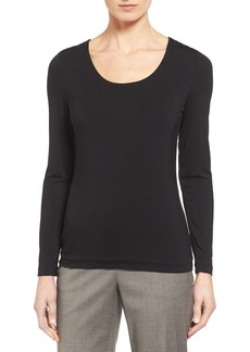 Nordstrom Collection U-Neck Jersey Top