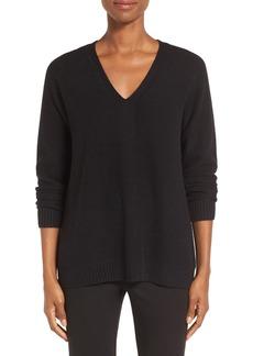 Nordstrom Collection V-Neck Cashmere Pullover