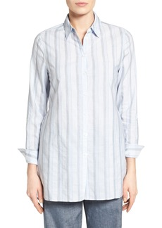 Nordstrom Collection Variegated Stripe Belted Tunic