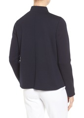Nordstrom Collection Wool Blend Knit Bomber Jacket