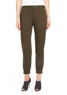 Nordstrom Collection Zip Pocket Sateen Ankle Pants