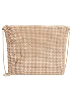 Nordstrom Crystal Embellished Mesh Shoulder Bag