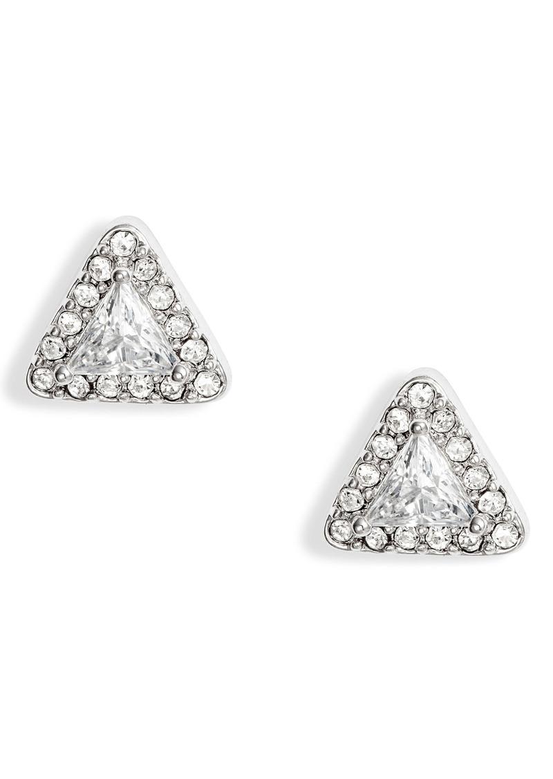 Nordstrom Crystal Triangle Stud Earrings
