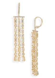 Nordstrom Crystal Triple Linear Drop Earrings