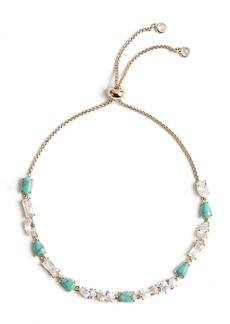 Nordstrom Cubic Zirconia & Stone Slider Bracelet