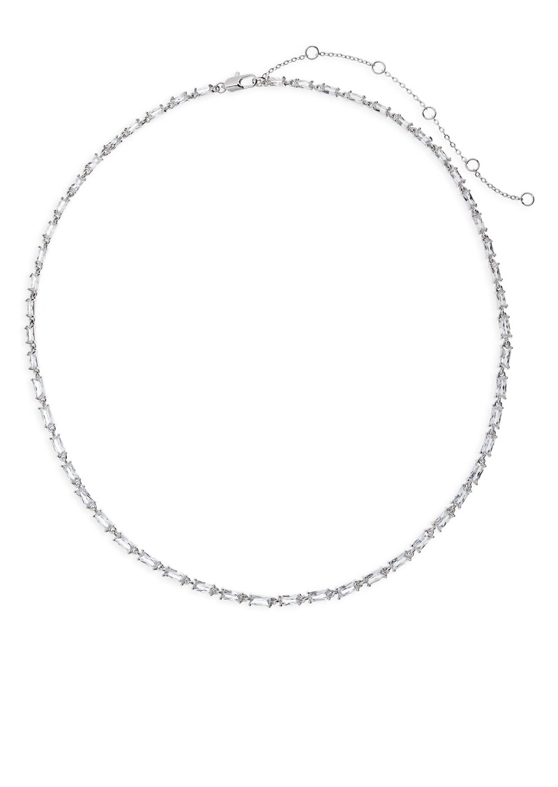 Nordstrom Cubic Zirconia Baguette Collar Necklace