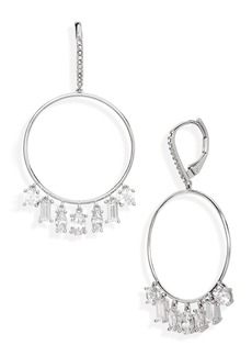 Nordstrom Cubic Zirconia Hoop Earrings