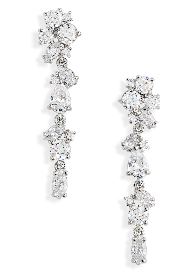 Nordstrom Cubic Zirconia Linear Drop Earrings