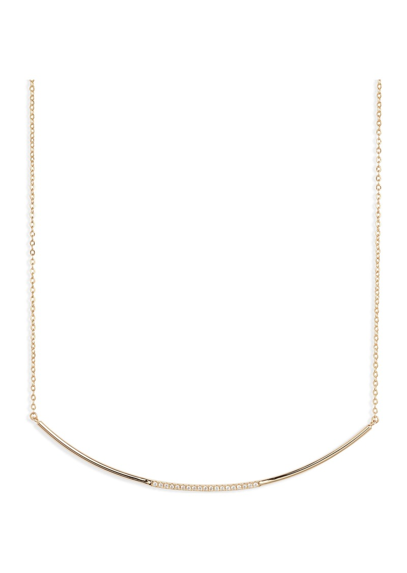 Nordstrom Curved Pavé Bar Necklace
