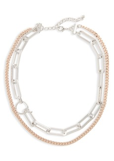 Nordstrom Double Row Link Necklace