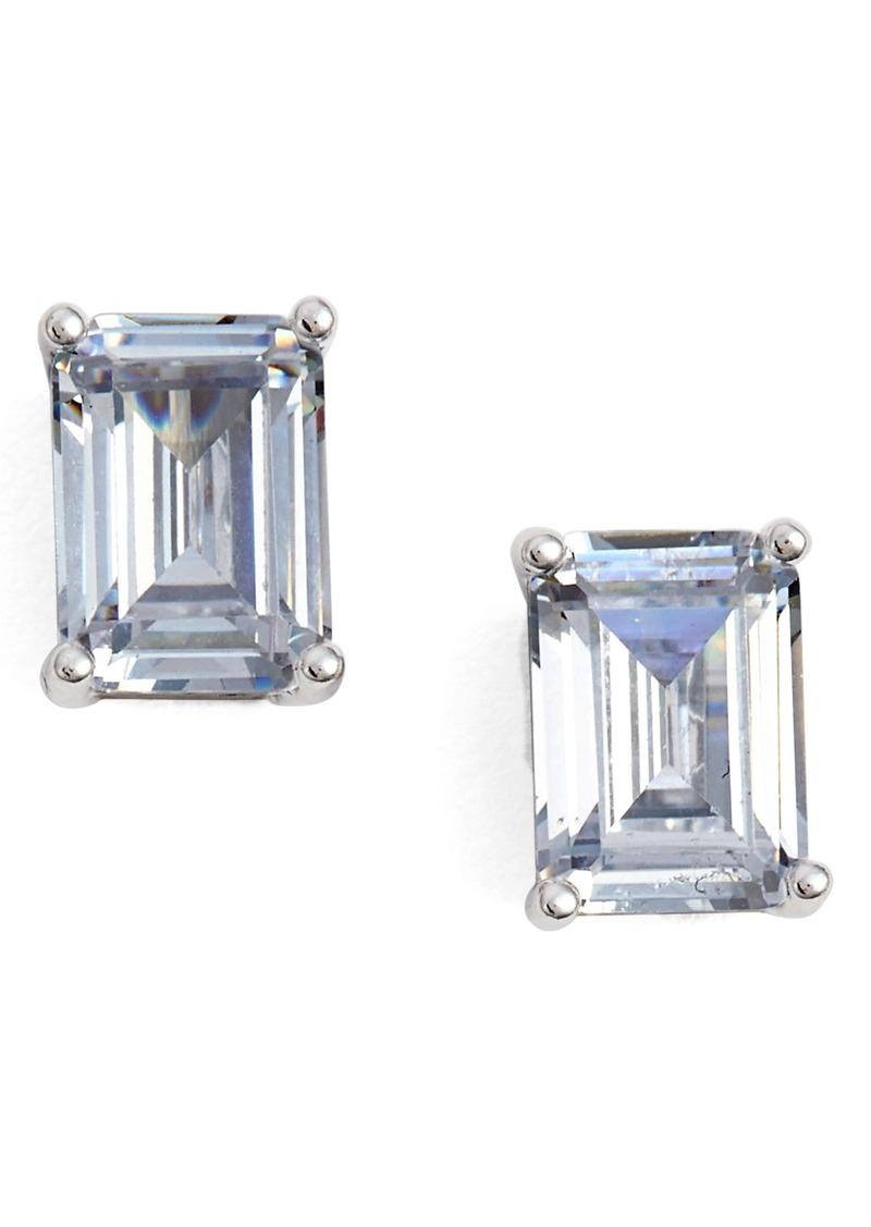Emerald Cut 2ct Tw Cubic Zirconia Stud Earrings