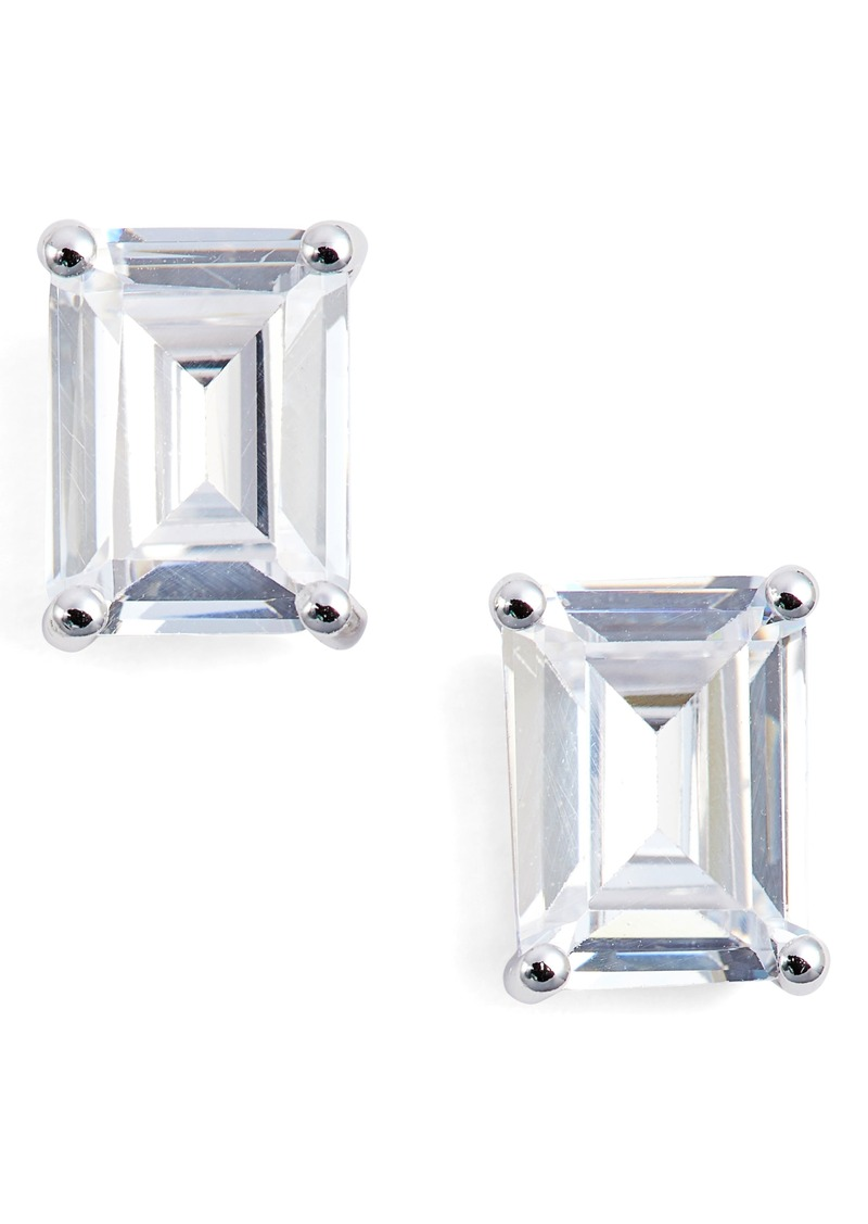 Nordstrom Emerald Cut 3ct Tw Cubic Zirconia Stud Earrings