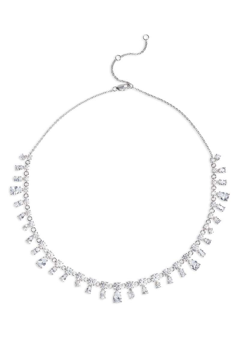 Nordstrom Fancy Cut Cubic Zirconia Collar Necklace