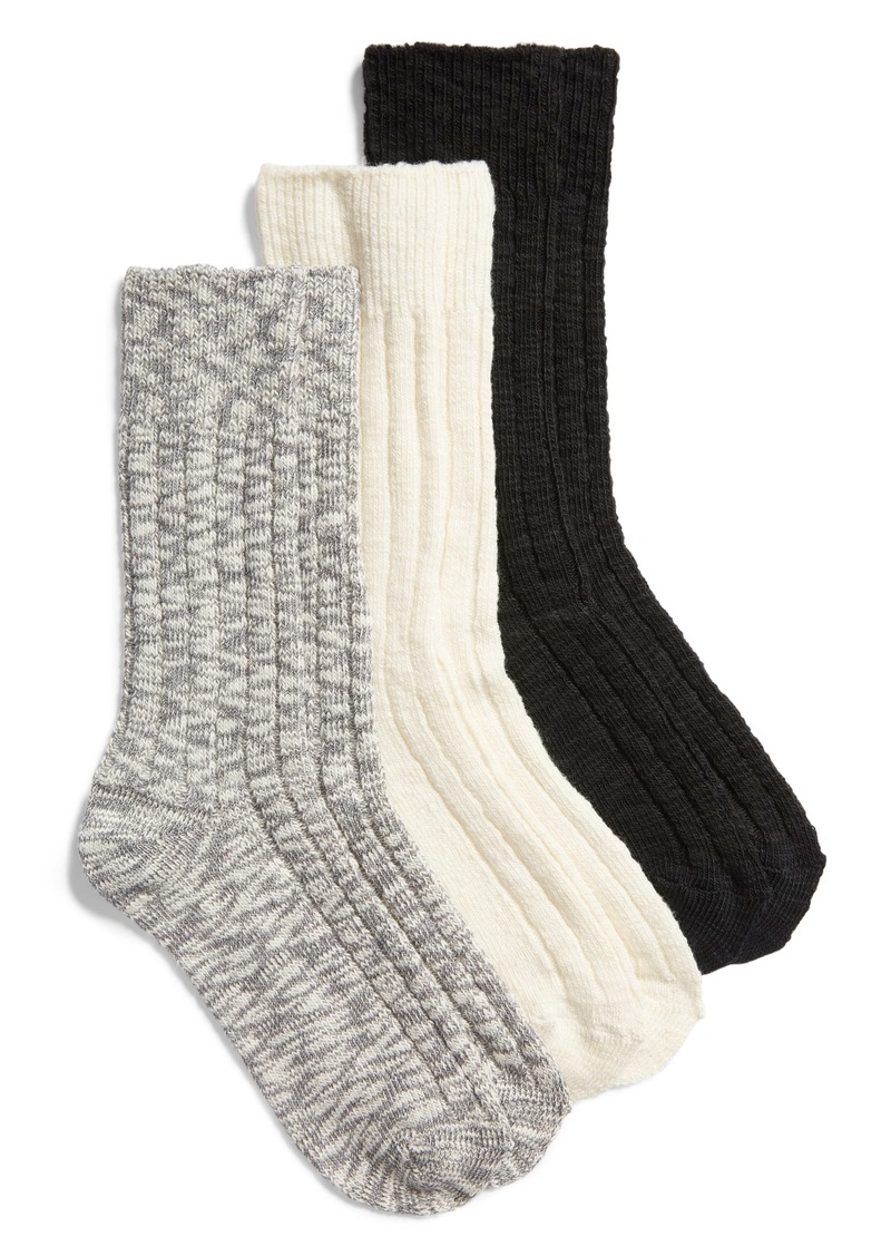 Nordstrom Favorite 3-Pack Boot Socks
