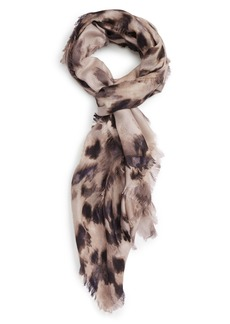 Nordstrom Feathered Cat Cashmere & Silk Scarf
