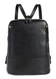 Nordstrom Finny Black Leather Backpack