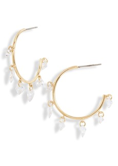 Nordstrom Floating Cubic Zirconia Shaker Hoop Earrings