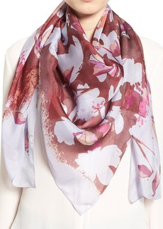 Nordstrom 'Floral Cutout' Square Silk Scarf