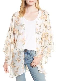 Nordstrom Floral Print Ruffle Sleeve Kimono
