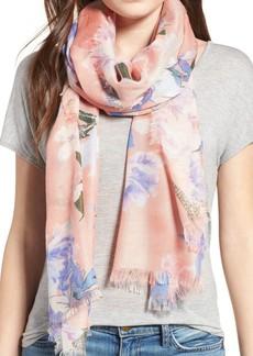 Nordstrom Floral Print Silk Scarf