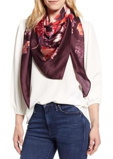 Nordstrom Floral Silk Scarf