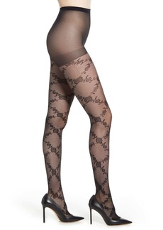 Nordstrom Floral Vines Tights