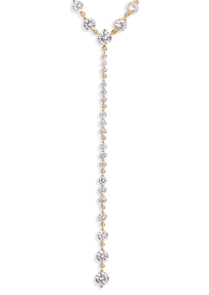 Nordstrom Graduated Cubic Zirconia Y-Necklace