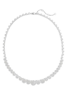 Nordstrom Graduated Pavé Disc Collar Necklace